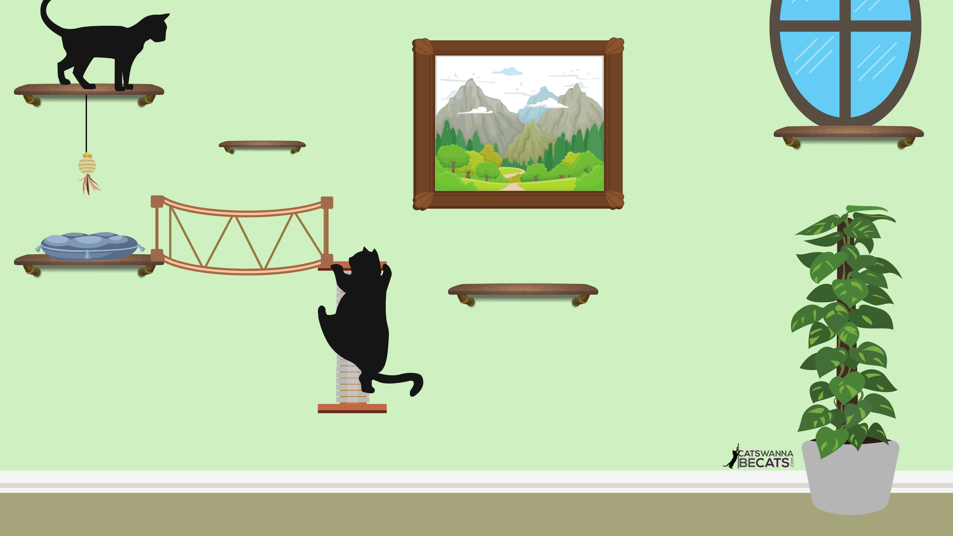 Vertical playground for cats