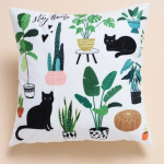 Cat Cushion Cover White